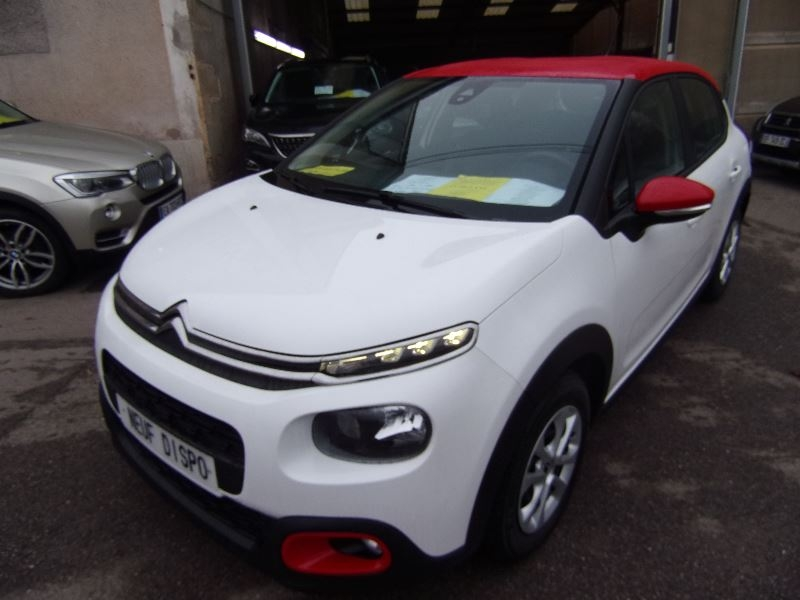 Citroen C3 III FEEL 1L2 PURETECH ESSENCE 82 CV CLIM GPS MIRROR-LINK RADAR BLUETOOTH RÉGULATEUR Essence BLANC/ROUGE Occasion à vendre