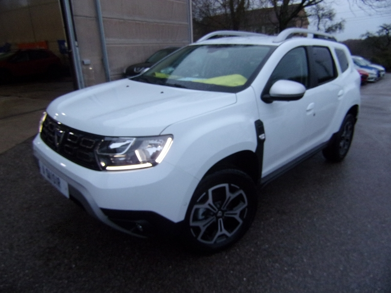 Dacia DUSTER III PRESTIGE LUXE 4X4 BLUEDCI 115 CV GPS USB CAMÉRA 360° JANTES 17 LEDS ANGLES MORTS Diesel BLANC CRISTAL Occasion à vendre