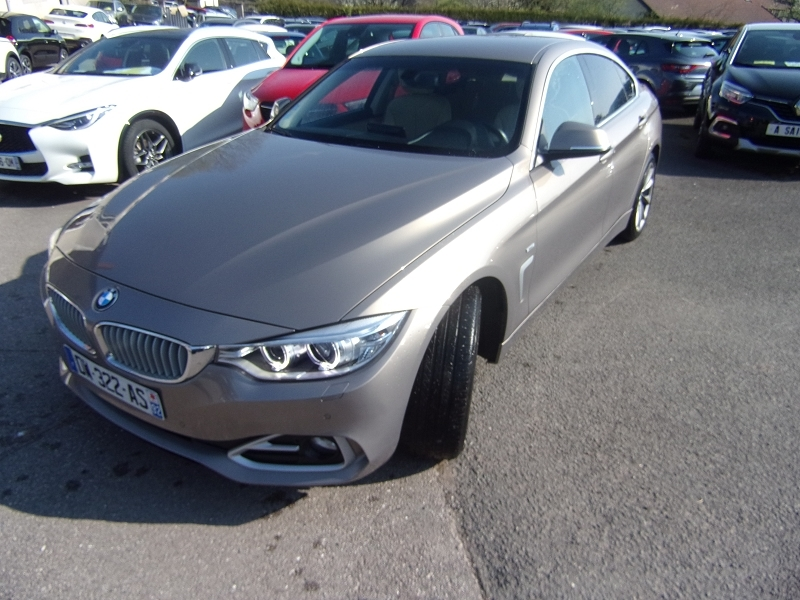 Bmw SERIE 4 GRAN COUPE 420 D MODERN 184 CV GPS CUIR SPORT AUDIO MP3 RE JA 17 RADAR BLUETOOTH RÉGULATEUR Diesel BEIGE VERSAILLE Occasion à vendre