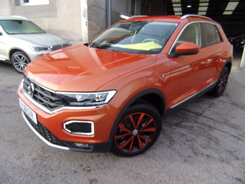 Volkswagen T-ROC 4X4 SPORT 2L TDI 150 GPS MÉDIA USB  MI CUIR TURBO DIESEL 6 VITESSES FRONT ASSIST Diesel ORANGE POWER Occasion à vendre