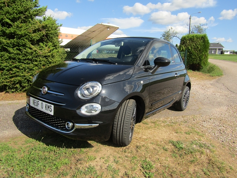 Fiat 500 II C LOUNGE CABRIOLET 1L2 8V 70 CV ESSENCE GPS ÉCRAN TACTILE MP3 BLUETOOTH RÉGULATEUR Essence NOIR DIAMANT Occasion à vendre