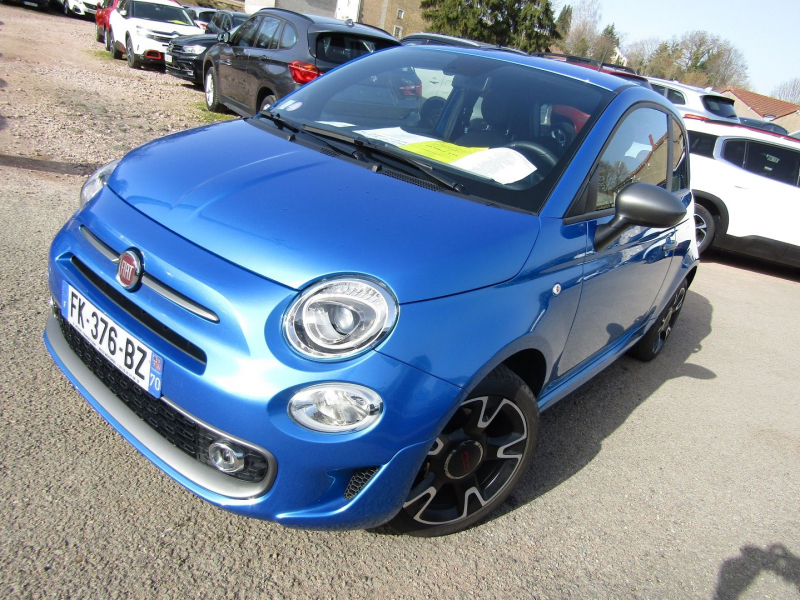 Fiat 500 II SPORT 1L2 8V 70 CV ESSENCE GPS ÉCRAN TACTILE USB RE CARPLAY BLUETOOTH RÉGULATEUR Essence BLEU RECIF Occasion à vendre